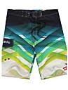 pentru bărbați respiră plajă înot poliester-uscare rapidă pantaloni scurți de imprimare roșu / verde