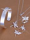 Gioielli Set Per donna Festa / Tutti i giorni / Occasioni speciali Parure di gioielli Argento Collane / Bracciali / Anelli / Orecchini