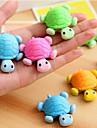 Tortoise Shaped Avtagbar Eraser (slumpvis färg)