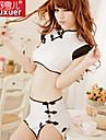 Feminin Ultra Sexy / Uniforme & Cheongsams Pijamale Polyester Peteci Alb