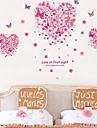 väggdekorationer väggdekaler, kärlek fjärilar pvc vägg klistermärken