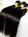 """4st mycket 8 """"-30"""" jungfru malaysianen rakt hår väva buntar naturligt svart 1b # 5a remy människohår förlängningar härva gratis"""