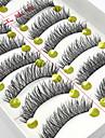 10 par handgjorda naturliga långa svarta lösögonfransar tvär mjuk tjock lösögonfransar smink ögonfransar förlängningar