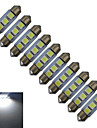 1W Guirlande Lampe de Decoration 3 SMD 5050 60lm lm Blanc Froid DC 12 V 10 pieces