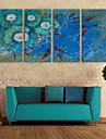 e-Home® sträckta canvas konst koi i dammen dekoration målning uppsättning av 4