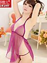 Feminin Ultra Sexy Pijamale Dantelă / Fire Filate Solid Violet / Negru