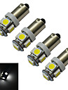 1W BA9S Lampe de Decoration 5 SMD 5050 70-100lm lm Blanc Froid DC 12 V 4 pieces