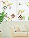 stickers muraux autocollants de mur, mur de PVC nid les autocollants d\'oiseaux