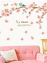 Wall Stickers väggdekaler, persika fåglar pvc vägg klistermärken