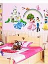 väggdekorationer väggdekaler, prins och prinsessa pvc väggdekorationer