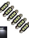 1W Festoon Inredningsglödlampa 3 SMD 5050 60-70lm lm Kallvit DC 12 V 6 st