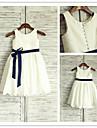 Trapezio - Decorato - Lunghezza te - Flower Girl Dress ( Taffeta )