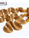"""3st 14-28 """"cinderella hårförlängningar honung blond malaysiska vågigt jungfruligt remy människohår väv buntar 7a färg 27"""