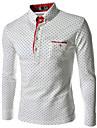 Men\'s Fashion Long Sleeve Shirt ,Dot printing
