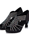 sandali da donna personalizzati latini raso scarpe di strass da ballo (altri colori)