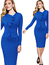 Robes ( Tricot roman ) Sexy/Bodycon/Soiree/Travail Manches longues pour Femme