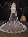 Two-tier Cathedral Veils ( White/Ivory , Applique )