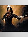 HANDMÅLAD MänniskorModerna / Europeisk Stil En panel Kanvas Hang målad oljemålning For Hem-dekoration