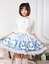 himmelsblå söt lolita stjärna och pegasus kjol härlig cosplay