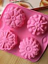bakeware silikon blommor formade bakformar för tårta choklad gelé