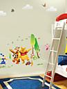 winnle l\'poooh avec son ami lapin tigre sticker mural pour chambre d\'enfants zooyoo876 PVC amovible decorative