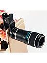 Universal 12X Telephoto Lens HD Green Film Optical Glass Detachable Lens for iPhone HTC Samsung Sony (Assorted Colors)