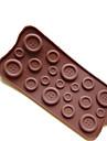 bakeware silikon knappar bakning formar för choklad