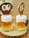 2 in 1 bere din oțel inoxidabil în formă de deschizator de sticle cu magnet frigider memo