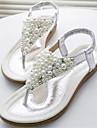 Sandal ( Silverfärgad/Guldfärgad ) - till KVINNOR Platt klack - Tåring - i Läderimitation