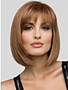 Lovely Youthful Bob Hairstyle Short Straight Mono Top Capless Human Hair Wig  5 Colors to Choose