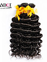 """3st mycket 12 """"-30"""" obearbetade malaysiska djupa våg lockiga jungfru hårwefts naturligt svart rå remy människohår väva buntar"""