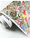 heta försäljning 150cmx100cm personifierade grafitti klistermärken klistermärke bomb vinyl bil pinnar
