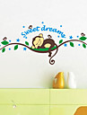 Animals / Cartoon / 3D Wall Stickers Plane Wall Stickers Decorative Wall Stickers,PVC Material Removable Home Decoration Wall Decal