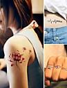 Tatueringsklistermärken - Non Toxic/Mönster - Djurserier/Blomserier/Annat - till Dam/Herr/Vuxen/Tonåring - Röd/Svart/Blå/Rosa - Papper -