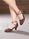 Chaussures de danse(Noir Marron Argent Or) -Non Personnalisables-Talon Cubain-Paillette Brillante Paillette-Moderne