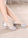 Dansesko(Blå Pink Sølv Guld) -Kan ikke tilpasses-Lave hæle-Damer Børn-Latin
