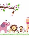 Animaux Botanique Bande dessinee Romance 3D Stickers muraux Stickers avion Stickers muraux decoratifs Materiel AmovibleDecoration