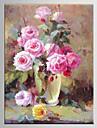 OElgemaelde Blumen europaeischen Stil handbemalten Leinwand mit gestrecktem gerahmten