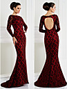 TS Couture® Formal Evening / Black Tie Gala Dress Plus Size / Petite Trumpet / Mermaid Bateau Sweep / Brush Train Lace with