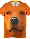 T-Shirts ( Coton melange ) Informel Rond a Manches courtes