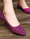 Damskor Imitationsläder Platt klack Komfort/Spetsig tå Platt sko Utomhus/Kontor/Formellt Lila/Silverfärgad