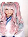 100cm nya stil cosplay mix färg billiga peruker hår syntetiska peruker