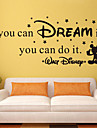 väggdekorationer väggdekaler stil om du kan drömma det engelska ord&citerar pvc väggdekorationer