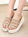 Sandales ( Caoutchouc , Or/Argent ) Hauteur de semelle compensee - 3-6cm pour Chaussures femme