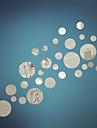 spegel väggdekorationer väggdekaler, diy cirkel spegel akryl väggdekorationer