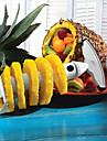 inox fruits en acier ananas epluche trancheuse