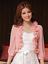 Hochzeitsverpackungen Chiffon / Polyester suesse elegante Spitze Boleros weiss / pink bolero Achselzucken