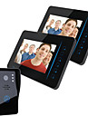 """ENNIO  7"""" TFT 2.4G Wireless Video Door Phone Intercom Doorbell Home Security 1 Camera 2 Monitor"""