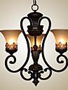 60 Ljuskronor ,  Vintage Rustik Ö Målning Särdrag for stearinljus stil Metall Vardagsrum Sovrum Dining Room Matsalsrum Studierum/Kontor