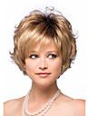 2015 femmes court cheveux synthetiques blonds boucles perruques melange pour les femmes